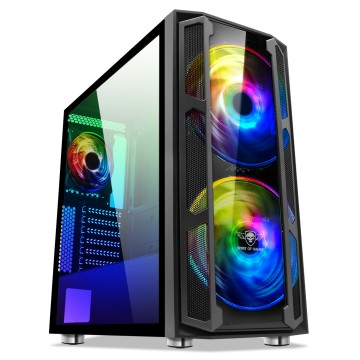 Processeurs - Video Choix Pc Gamer INTEL I3 10300 GeForce GT710 2Go Windows 10 Ghost 5 RGB